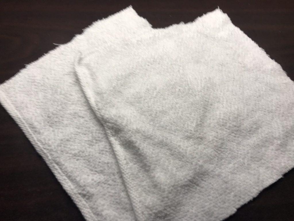 15cm角のタオル