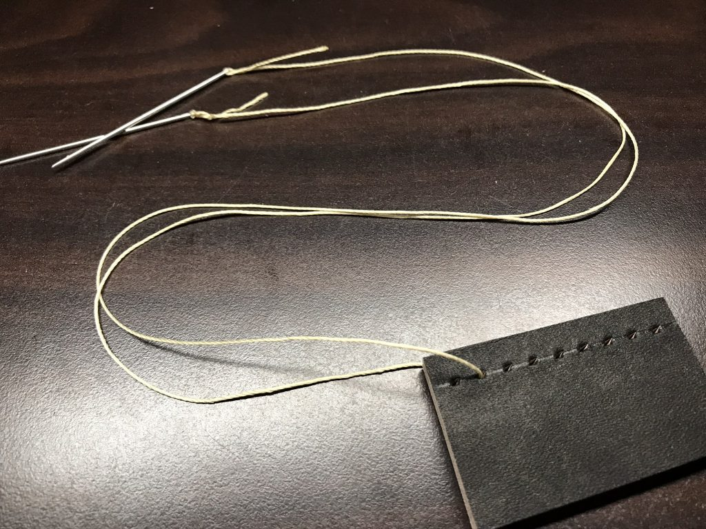 糸の長さを同じにします