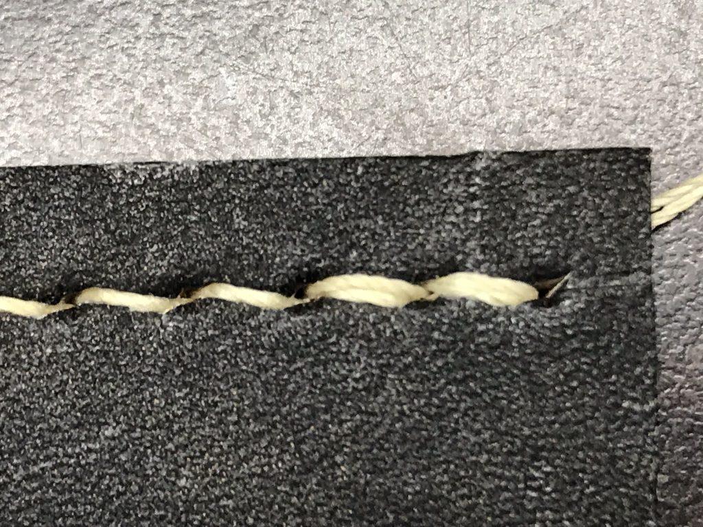 手縫糸の縫い終わり